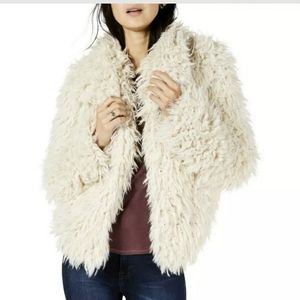 Lucky Brand Fur Jacket New
